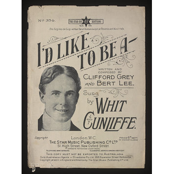Sheet Music - I'd Like To Be A-