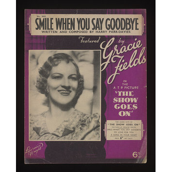 Sheet Music - Smile When You Say Goodbye