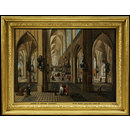 Interior of Antwerp Cathedral (Oil painting)