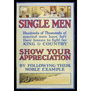 Single men... show your appreciation (Poster)