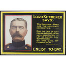 Lord Kitchener says:- enlist today (Poster)