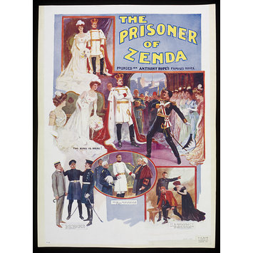 Poster - Poster for a touring production of The Prisoner of Zenda