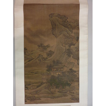 Hanging scroll - Storm in the Mountains