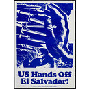 US Hands Off El Salvador! (Poster)