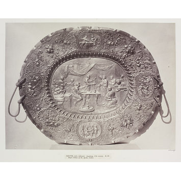 Photograph -  Oval salver, Royal Palace of Ajuda, Lisbon