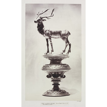Photograph - Silver-gilt Stag on pedestal, Palace of Necessidades, Lisbon