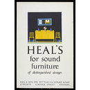 Heal's for sound furniture of distinguished design (Poster)