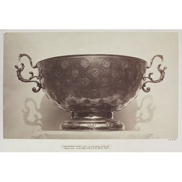 Photograph - Royal Palace of Ajuda, Lisbon, Christening bowl, silver