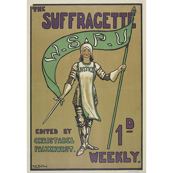 Poster - The Suffragette 1d Weekly