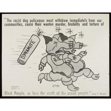Poster - The racist dog policeman...