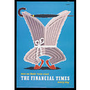 Men on their toes read the Financial Times every day (Poster)
