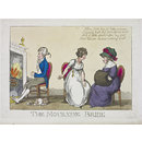 The Mourning Bride (Satirical print)