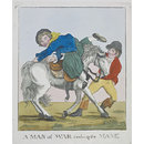 A Man of War crossing the Mane (Satirical print)