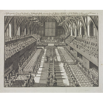 Print - 'The history of the coronation of the Most High, Most Mighty, and Most Excellent Monarch, James II, by the grace of God, King of England, Scotland, France, and Ireland, defender of the faith, &c. And of his royal consort, Queen Mary
