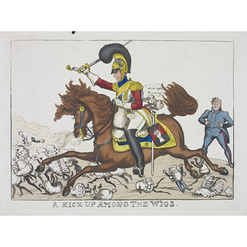 Satirical print - A Kick Up Among The W[h]igs