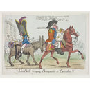 John Bull bringing Bonaparte to London!! (Print)