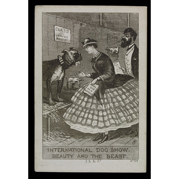 Satirical print - International Dog Show: Beauty and the Beast