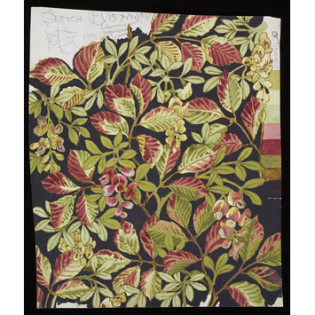 Textile design - Laburnam and Copper Beech