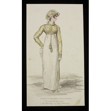 Fashion plate - Duchess of Angoulême Bonnet & Spencer