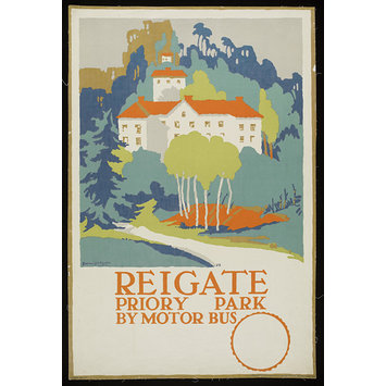 Poster - Reigate, Priory Park By Motor Bus