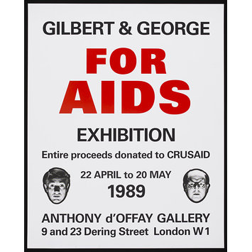 Poster - Gilbert & George for AIDS