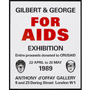 Gilbert & George for AIDS (Poster)