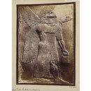 Assyrian sculpture of an eagle-headed genius, worshipping, Paris, Louvre (Photograph)