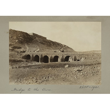 Photograph - Syria, Derâ'a, bridge to the town