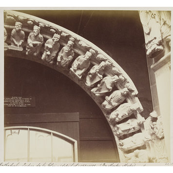 Photograph - Cast of Portico de la Gloria, (detail), the Cathedral of Santiago de Compostella in Spain