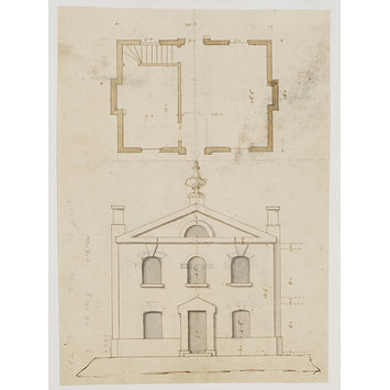 Design - Plan and elevation of a small house for an unidentified project