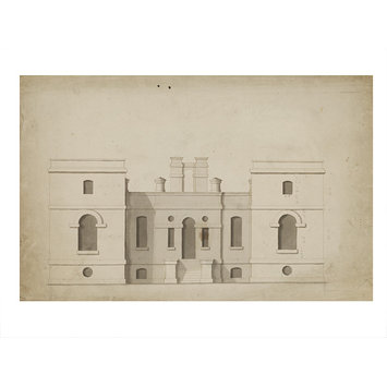 Design - Elevation of a small house, the Vine, Sevenoaks