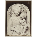 Bas-relief Virgin and Child in enamelled earthenware by Luca della Robbia (photograph)