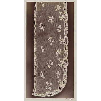 Photograph - Lace, a piece.  Brussels bobbin.  Period of Louis XVI.  Flemish, late 18th century