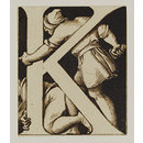 Design for letter 'K' for tiles in the South Kensington Museum's Centre Refreshment Room and Ceramic Gallery. (Design)