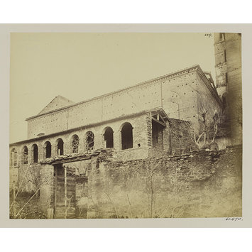 Photograph - Church of S. Croce in Gerusalemme - North Wall, c. A.D. 120; the Cornice, A.D. 1115; the Porticus or Arcade in front, c. A.D. 1600.