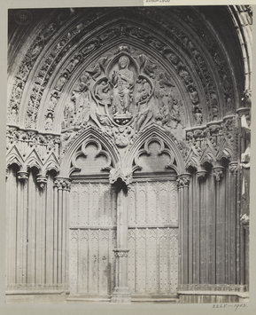 Tympanum christ in majesty lincoln judgment portal