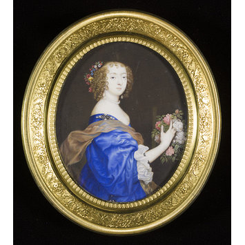 Portrait miniature - Catherine Howard, Lady d' Aubigny, and later Lady Newburgh