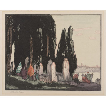 Print - The Resting Place, Scutari