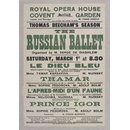Royal Opera House Covent Garden, Saturday March 1st (1913) (Poster)