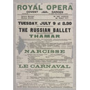 Royal Opera, Covent Garden, Tuesday July 9 (1912) (Poster)
