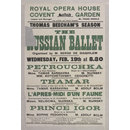 Royal Opera House Covent Garden, Wednesday 19 February 1913 (Poster)