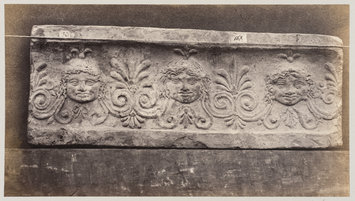 photograph - Three masques of gorgons in terra cotta