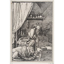 St Jerome in His Cell (Print)