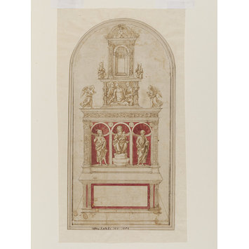 Design for an altar - Design for an altar with three niches containing sculpture