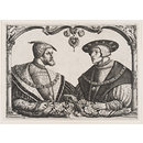 Charles V and Ferdinand I (Etching)