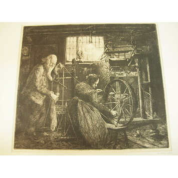 Print - Stocking Weavers, Hathern