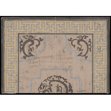 Design - Design for a carpet in the chinoiserie manner