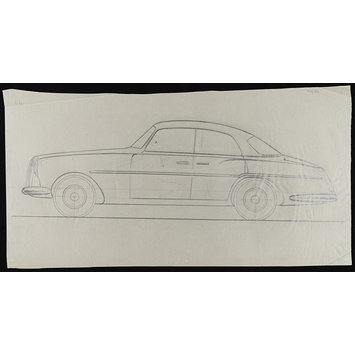 Drawing - Design for a car