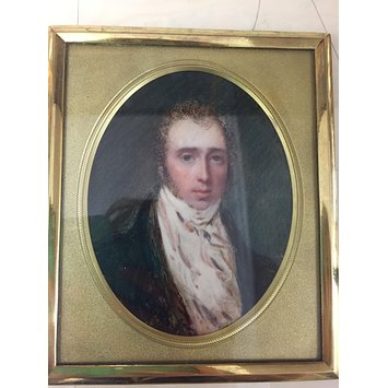 Portrait miniature - A man, thought to be Joseph Mee
