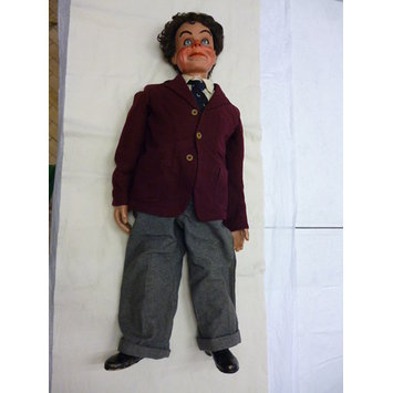 Ventriloquist's figure - Jimmie. Vent doll made by Len Insull, 1946.